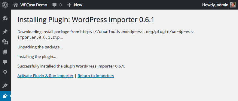 wpcasa-import-example-install