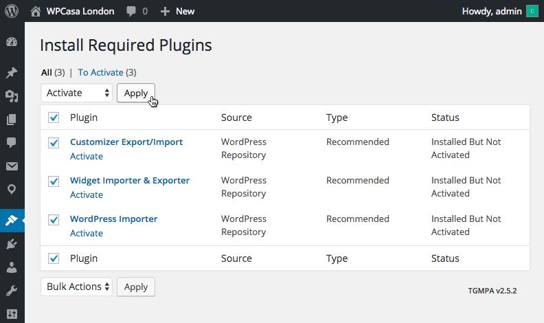 Install necessary plugins