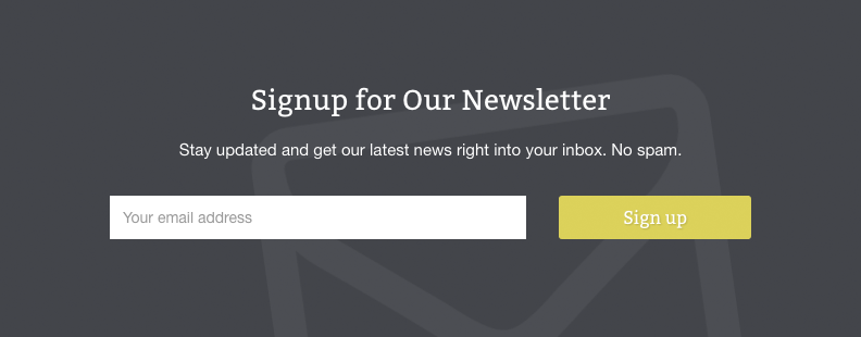 WPCasa Oslo newsletter form